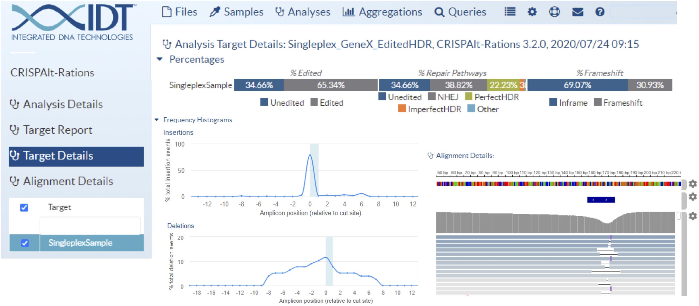 CRISPRAltRations user interface