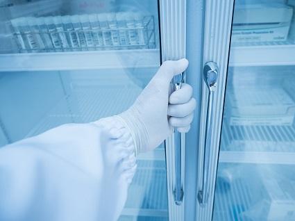 samples in fridge
